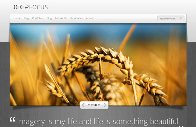 DeepFocus WordPress Photo Theme