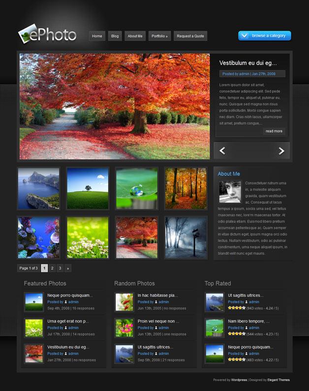 ePhoto WordPress Theme