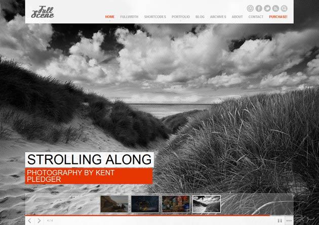 FullScene – A New Portfolio/Photography Theme