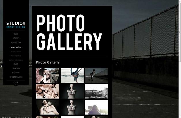 Studio8 – Ajax Powered Photography Theme w/ Fullscreen Slideshows