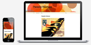 new twenty thirteen theme