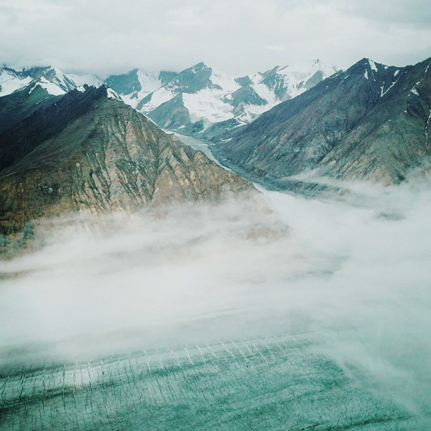 Photo by @moneal, taken from a glacier tour in the Yukon.