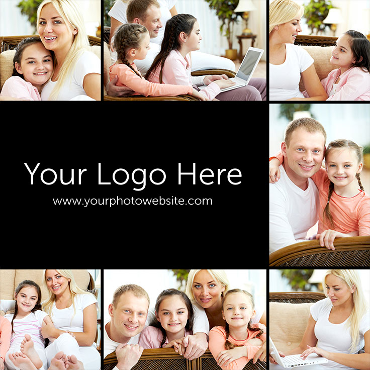 8-image-with-logo-pinterest-template