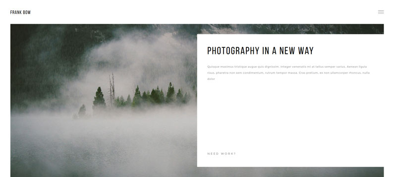 Bow - A minimal, elegant WordPress theme for photographers