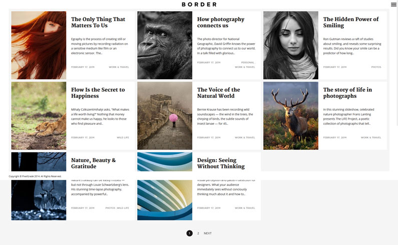 Border: A delightful WordPress theme for photographers