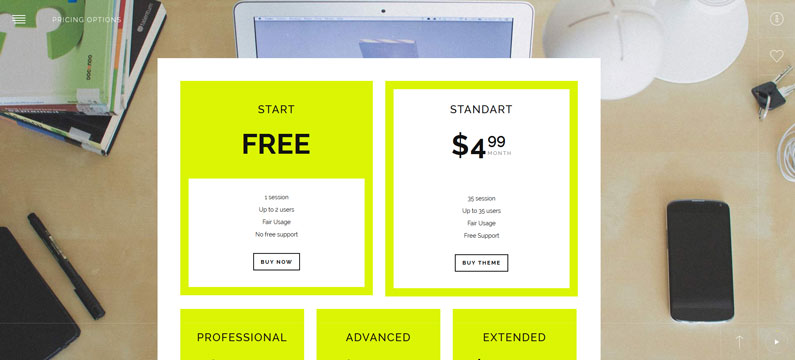 GetPhoto Pricing Table