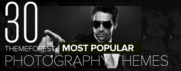 30 Most Popular WordPress Photography Themes on Themeforest