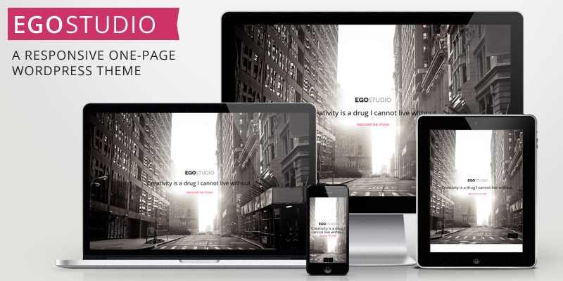 EGOSTUDIO – Onepage Responsive WordPress Theme