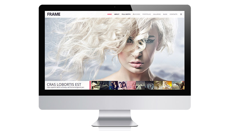 Clean, Minimal Photography WordPress Theme – Frame