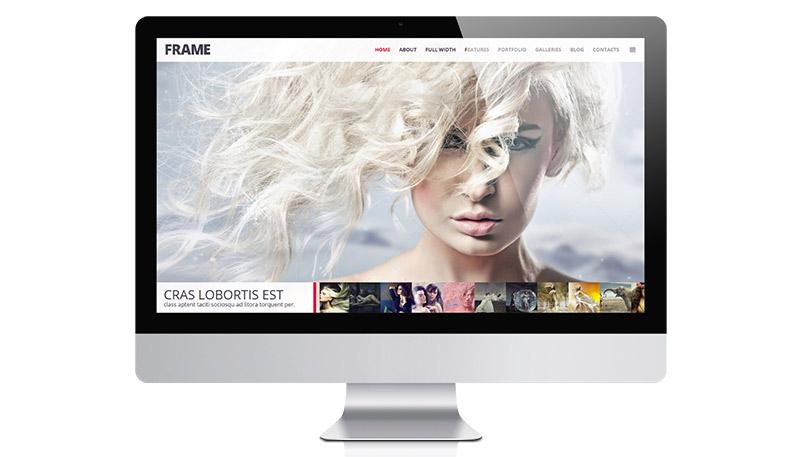 Clean, Minimal Photography WordPress Theme – Frame